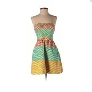 Wow couture | NWOT Strapless Stripe Dress